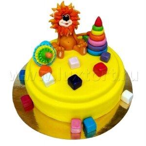 Торт Львенок с игрушками