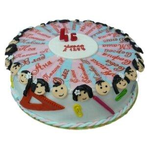 Торт Выпускной с именами