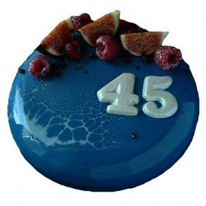 Зеркальный торт с ягодами