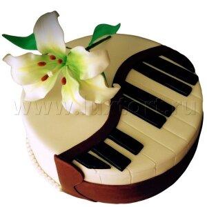 Торт Музыкальный с Лилией