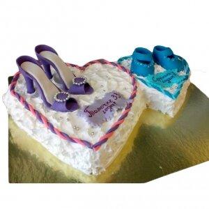 Торт Два сердца