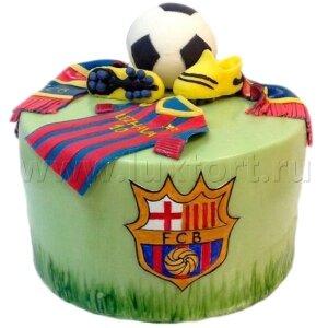 Торт форма ФК Барселона.