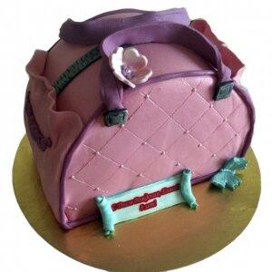 Торт Розовая сумочка