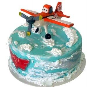 Торт Самолетик Дасти в облаках