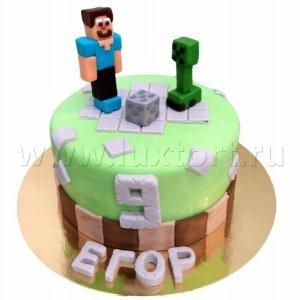 Торт Майнкрафт 9