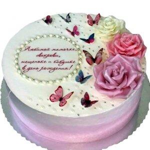 Торт Сливочный с Розами №2