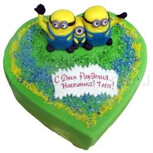 Торт Миньоны на сердце,(Гадкий Я)