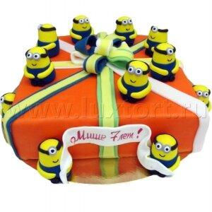 Торт Миньоны подарок,(Гадкий Я) №2
