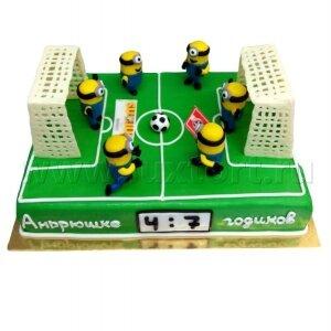 Торт Миньоны на футболе
