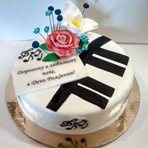 Торт Музыкальный с цветами