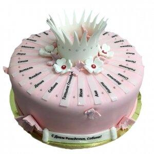 Торт с именами и Короной