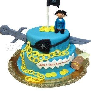 Торт Пират с сокровищами