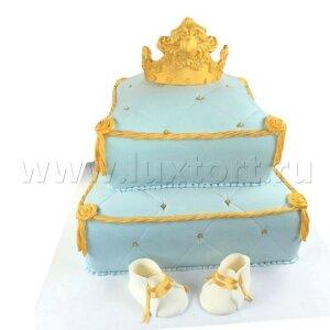 Торт Королевская Подушка с пинетками