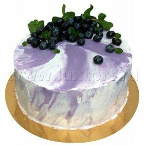 Торт с черникой и мятой