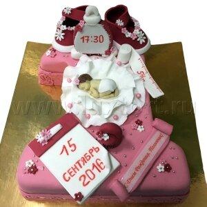 Торт Единичка с первыми мерками №3