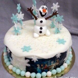 Торт Снеговик Олаф