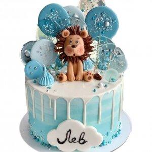 Торт Львенок со сладостями