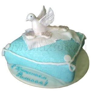 Торт на Крестины с Голубем