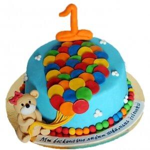 Торт Мишка с шариками №2