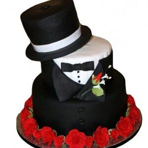 Торт Джентльмену с цилиндром