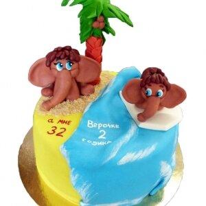 Торт Мамонтёнок с мамой