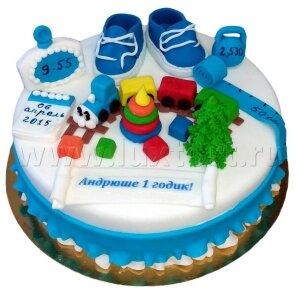 Торт Первые мерки  с игрушками