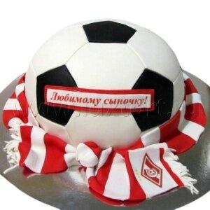 Торт Футбольный мяч Спартак