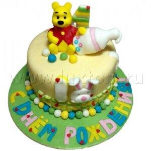 Торт Винни-Пух с бутылочкой