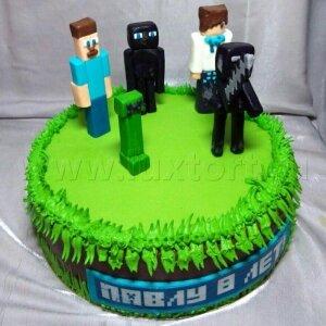 Торт Майнкрафт 8