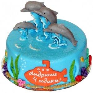 Торт Дельфины
