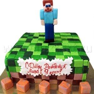 Торт Майнкрафт 4