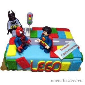 Торт Лего Герои
