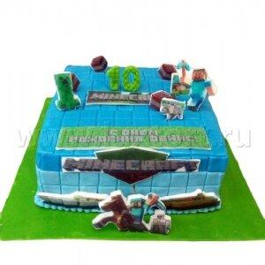 Торт Майнкрафт 3
