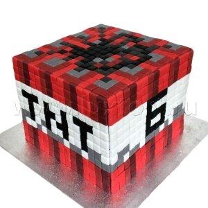 Торт Майнкрафт динамит