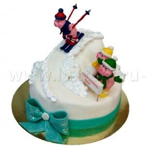 Торт Поросята на спуске