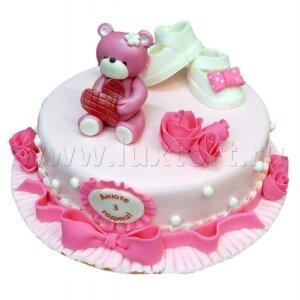 Торт Мишка с пинетками