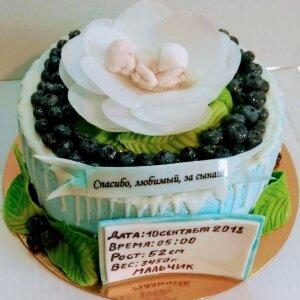 Торт Младенец в цветке