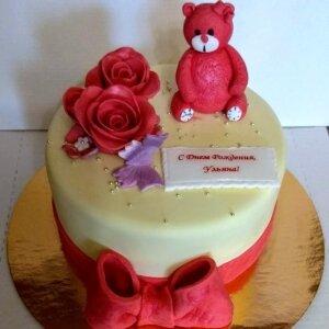 Торт с Розовым Мишкой 2