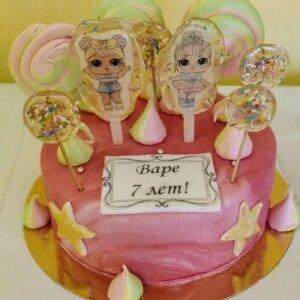 Торт Кукла  ЛОЛ с леденцами