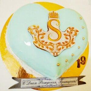 Зеркальный торт Сердце для Принцессы