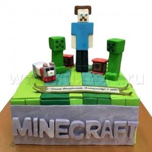 Торт Майнкрафт 7