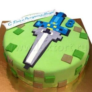 Торт Майнкрафт Меч №2