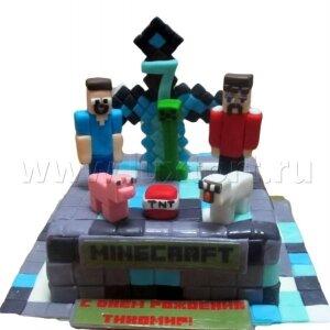 Торт Майнкрафт 5