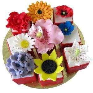 Капкейки с цветами