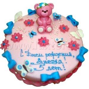 Торт с розовым Мишкой