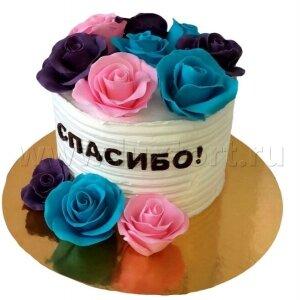 Торт Сливочный с Розами