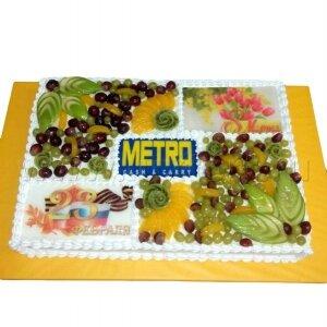 Торт METRO Праздничный c фруктами