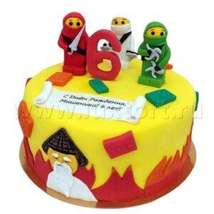 Торт Лего Ниндзя Го №3