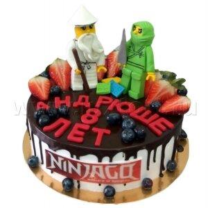 Торт Лего Ниндзя Го с ягодами