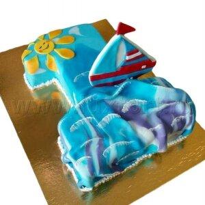Торт Один годик с парусником